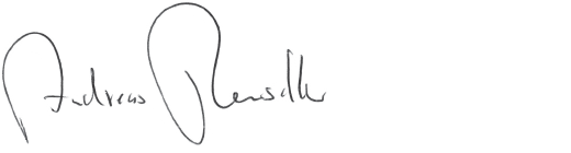 Andreas Renschler (handwriting)